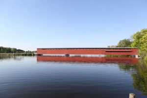 The Langley Covered Bridge in Centreville, Michigan (St. Joseph County, MI)