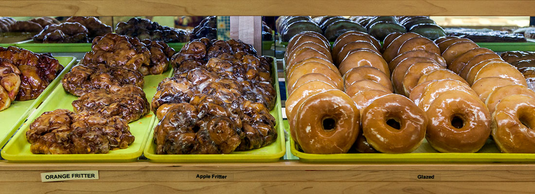 Fresh donuts at Yoder's Country Market in Centreville, MI