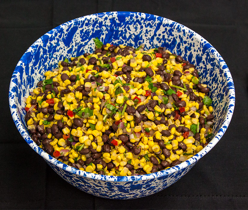 Corn and Bean Salad at Yoder