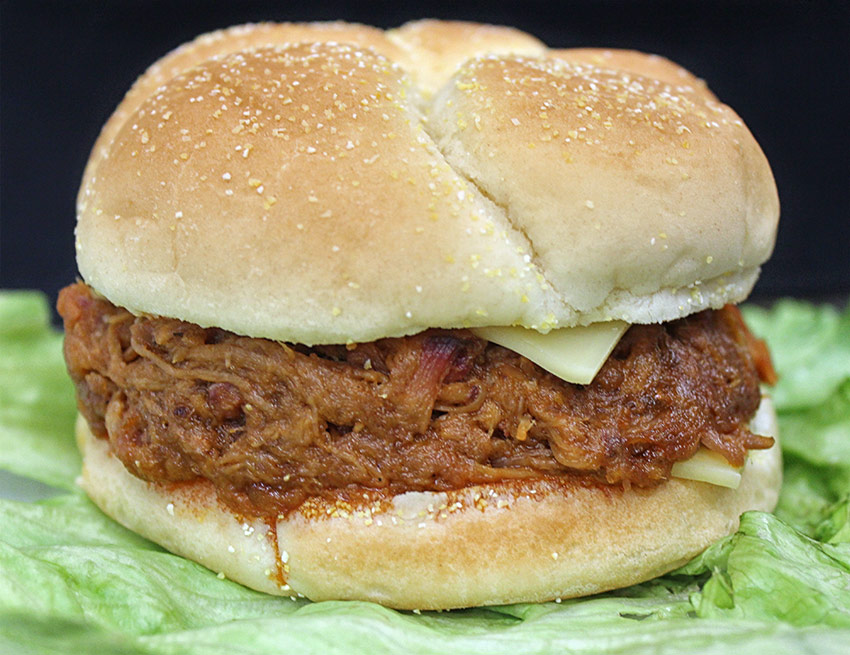 Pulled Pork Sandwiches at Yoder's in Centreville, MI