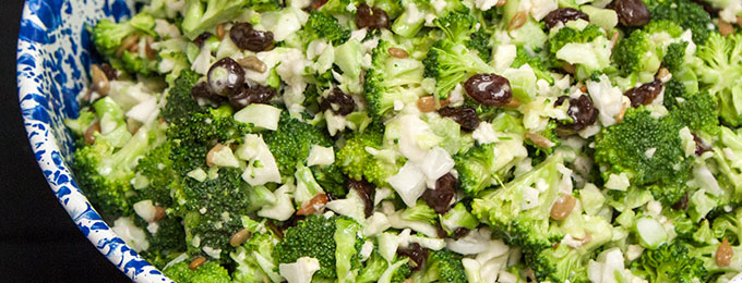 Broccoli Salad at Yoder's Country Market in Centreville, MI